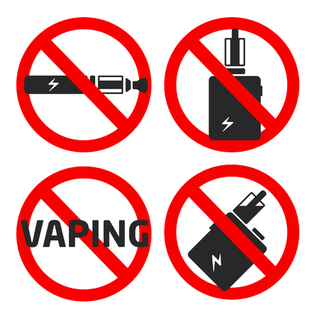 vaporized: vector coollection set vaping icons Stock Photo