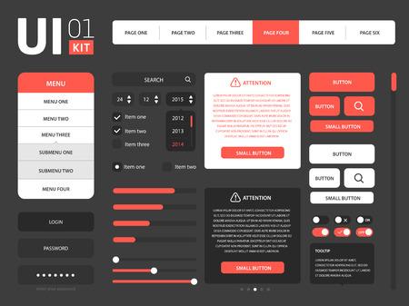 web template: Vector UI web kit template set collection