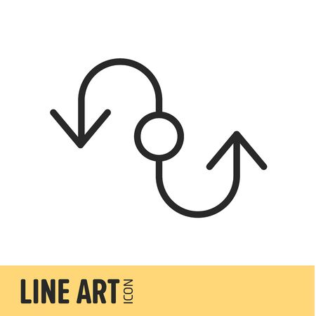 active arrow: vector illustration icon lineart icon lines art Stock Photo