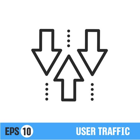 Vector lines icon black banner isolated sign