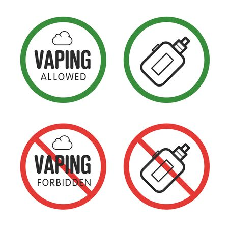 assent: Vector FORBIDDEN assent vaping isolated trend sign Illustration