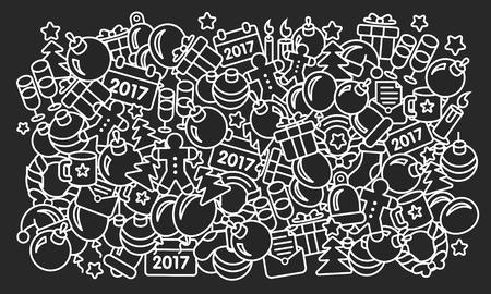 illustration new year 2017 pattern trend set
