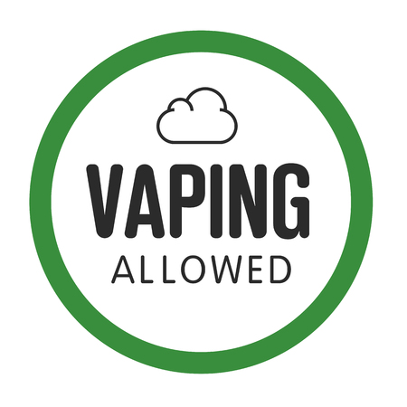 assent: assent illustration vaping isolated trend sign