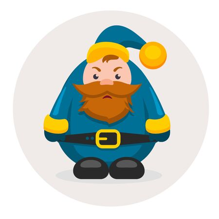 dwarf christmas: new year characters and Christmas adult dwarf Illustration