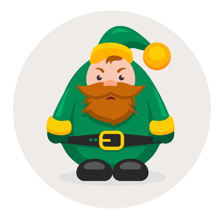 dwarf christmas: new year characters and Christmas adult dwarf Stock Photo