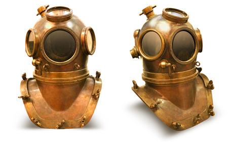 winchester: Copper old vintage deeps sea diving suit
