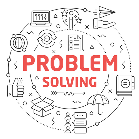 Line Flat Circle illustration problem solving