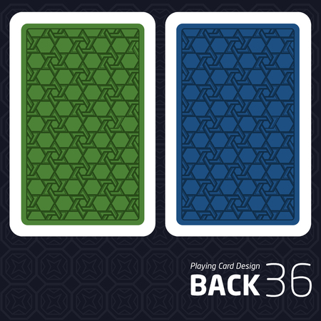 Game Card Back Abstract Pattern Background Underside