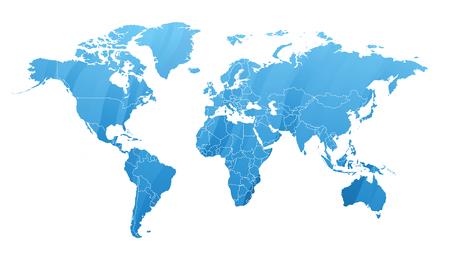 Land map silhouette Illustration