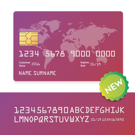 Credit banking business plastic card and payment