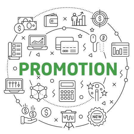 Flat lines illustration for presentation promotion