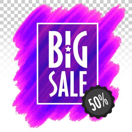 Template banner big sale marketing trend vector
