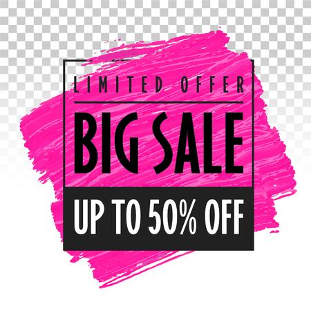 Big sale banner template trend vector