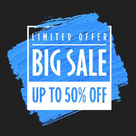 Big sale banner template black background trend vector