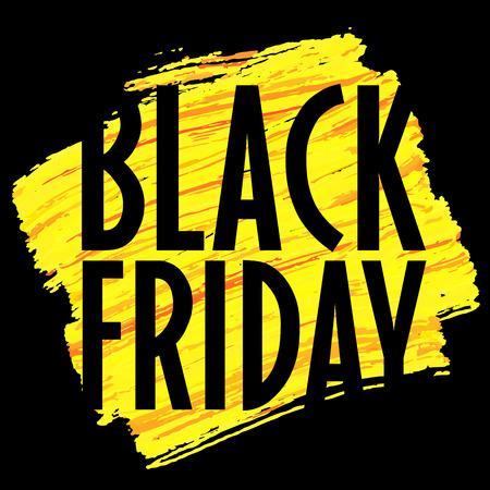 Vector Banner template Black Friday trend vector Ilustrace