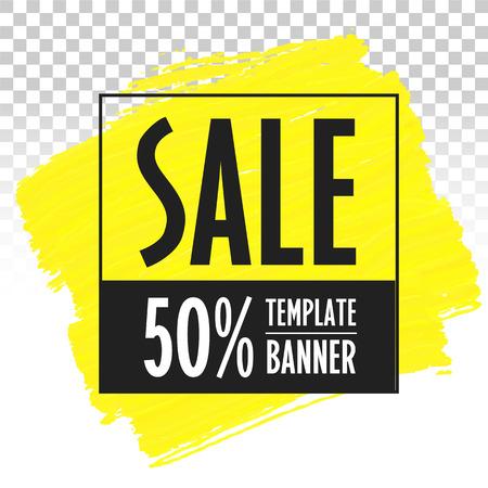 Advertising banner template sale brush trend vector