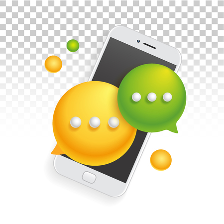 Banner icon mobile phone smartphone SMS communication Ilustrace