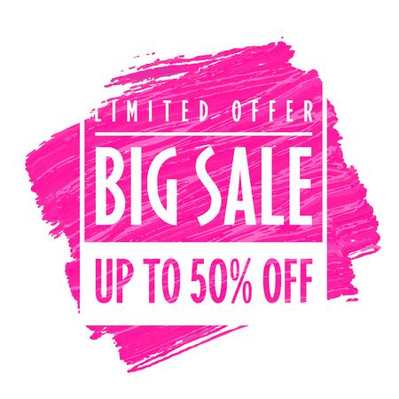 Vector Big sale banner template Reklamní fotografie - 111501739