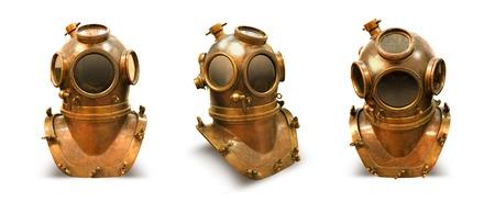 element cooper diving helmet casque sea scaphandre