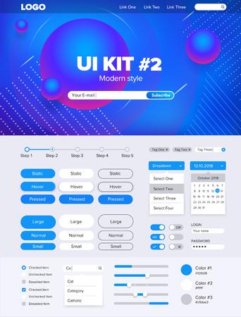 UI Kit for website temlate buttons gui website menu