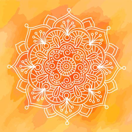Diwali Indian pattern background rangoli symmetric vector