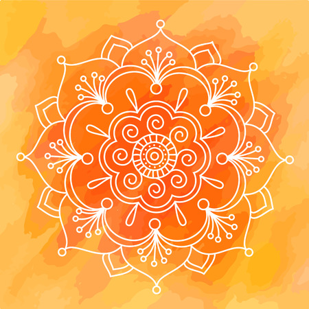Diwali Indian pattern background rangoli symmetric vector