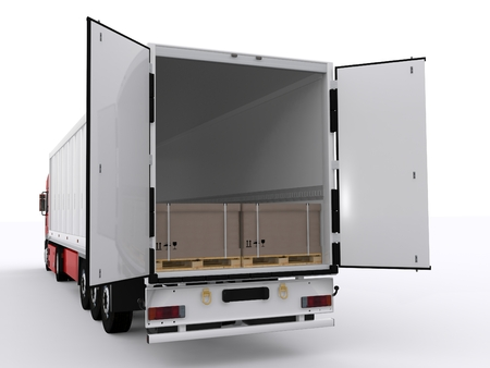 truck with open trailer