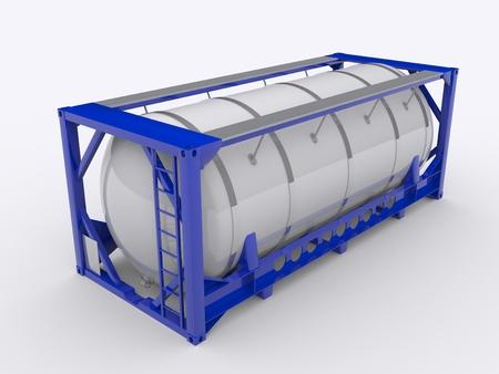 tanque de combustible: contenedor cisterna Foto de archivo