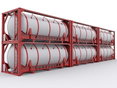 camión cisterna: contenedor cisterna Foto de archivo