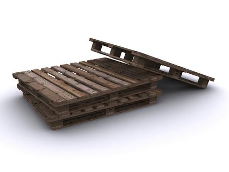 wooden pallet  photo