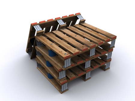 stacked wooden pallet  photo