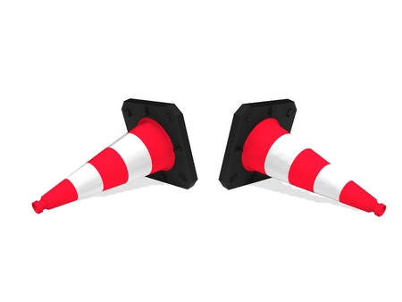 road marking: traffic cones