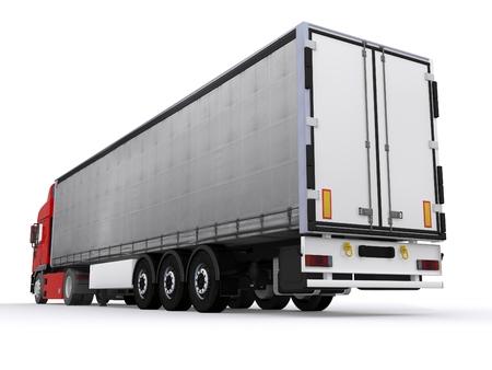 truck with curtainside trailer Reklamní fotografie
