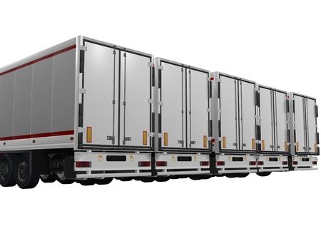 semitrailer: parked trailer Stock Photo