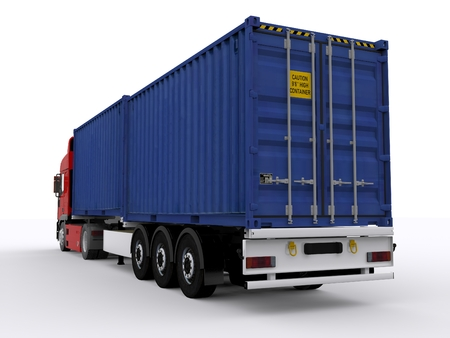 trailer with 20ft container