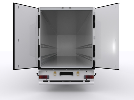 open trailer Stock Photo