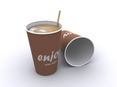 to go cup: coffee cup Stock Photo