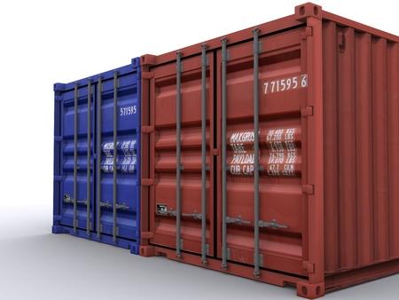 container Reklamní fotografie