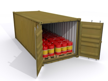 loaded container