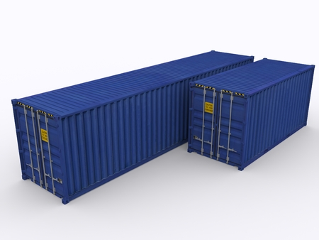 storage container: 40ft container Stock Photo