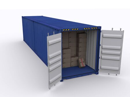 iso: 40ft container Stock Photo