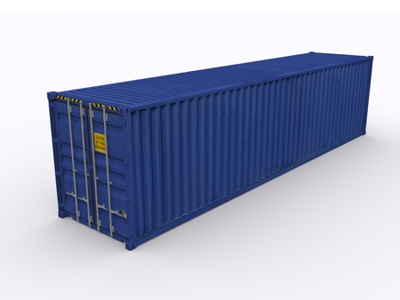 transport of goods: 40ft container Stock Photo