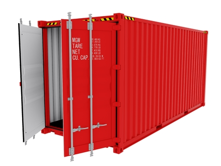 Shipping Container isolated Reklamní fotografie