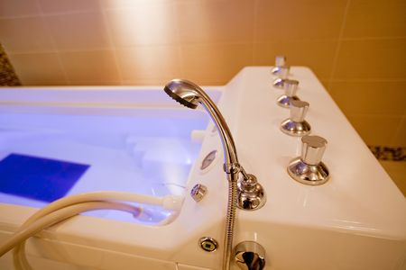 hydromassage: hydromassage bathtub in a cosmetological clinic. small GRIP