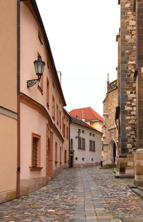 empty old street Brno, Czech. vertical shot Stock Photo - 8870488