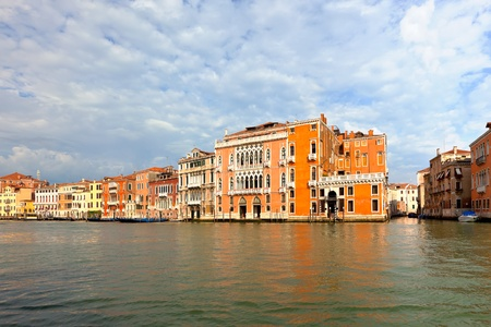 Grand Canal Venice Italy. Vibrant color summer shot. another Venice shots available Stock Photo - 9093059
