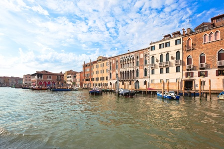 Palaces on Grand Canal Venice Italy. Vibrant color summer shot. another Venice shots available Stock Photo - 9093067
