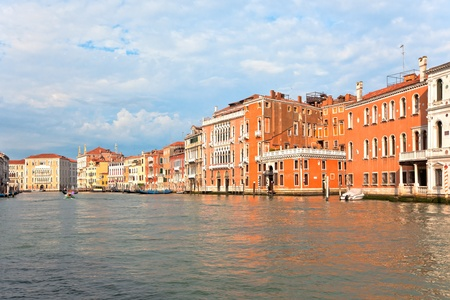Palaces on Grand Canal Venice Italy. Vibrant color summer shot. another Venice shots available Stock Photo - 9093068