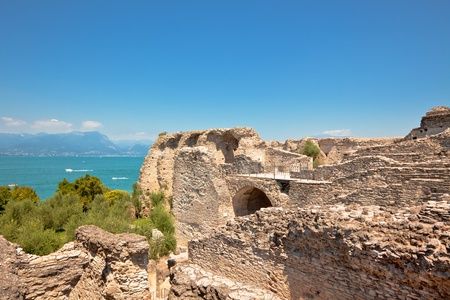 sirmione: Roman Catullus villa archaeological excavations in Sirmione, Garda, Italy