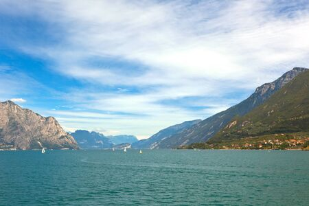 Summer View Over Lake Garda in Italy